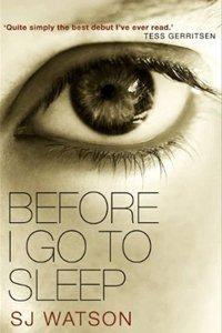 Before I Go To Sleep by SJ Watson crime novel