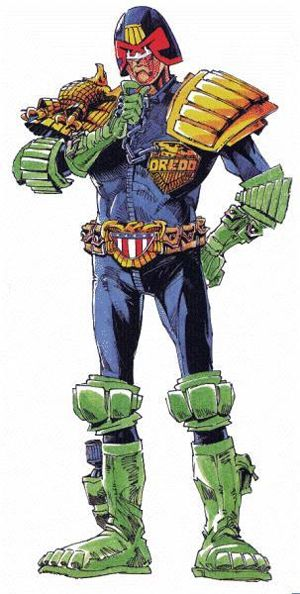 Judge Dredd, crime fiction hero