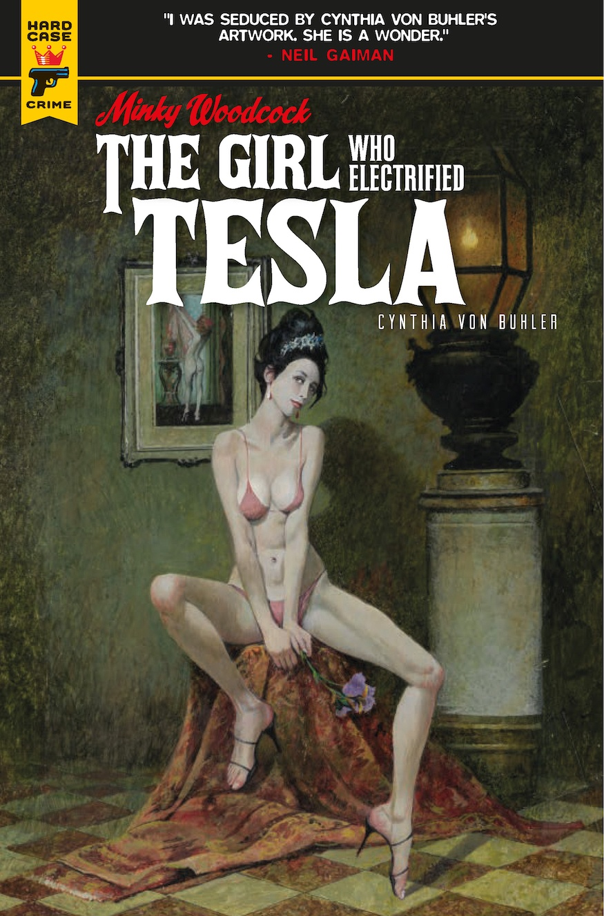 Minky Woodcock: The Girl Who Electrified Tesla Robert McGinnis cover
