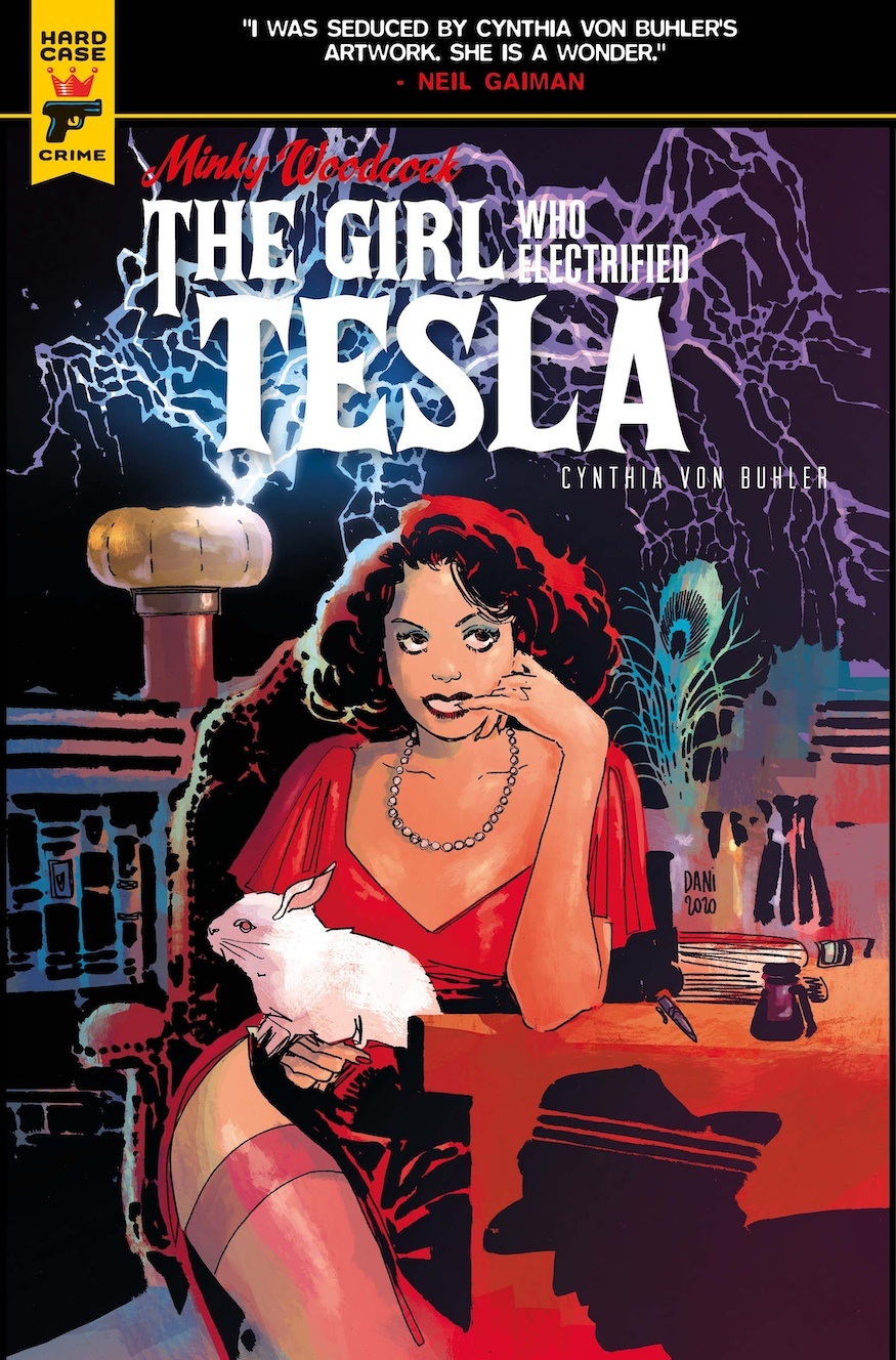 Minky Woodcock: The Girl Who Electrified Tesla Dani Strips cover
